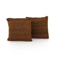 "20x20"" Size Tawny Kilim Pillow, Set of 2"