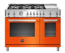 "48"" Professional Series range - Gas Oven - 6 brass burners + griddle"