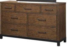 Emerald Home Perspective 7 Drawer Dresser Coffee Bean B257-01