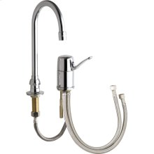 Single Lever Hot and Cold Water Mixing Sink Faucet