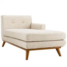 Engage Right-Facing Upholstered Fabric Chaise in Beige