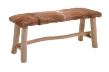 Andros Animal Hide Bench