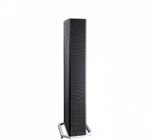 """High-Performance Tower Speaker with Integrated 8"""" Powered Subwoofer"""