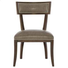 Delancey Leather Dining Side Chair in Cocoa