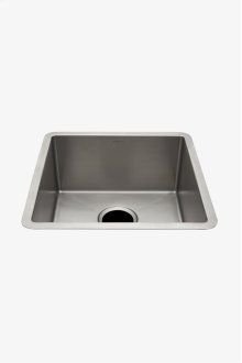"Kerr 16 7/8"" x 16 7/8"" Stainless Steel Undermount Prep Sink with Rear Drain STYLE: KRSK17"