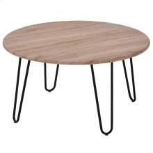 Tario Coffee Table in Natural & Black