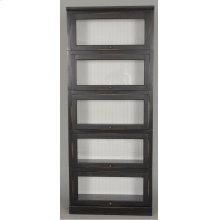 "#522-5 Lawyer Bookcase 5 Piece 33""wx14""dx79""h"