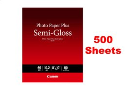 """Canon Photo Paper Plus Semi-gloss SG-201 8""""x10"""" - 500 Sheets"""