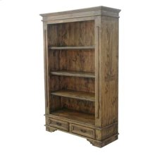 "Honey finish : 50"" x 19"" x 76"" Madrid Bookcase Medio"