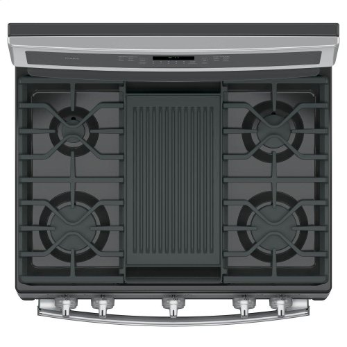"""GE Profile™ 30"""" Free-Standing Gas Convection Range"""
