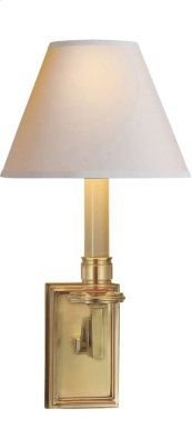 Visual Comfort AH2001NB-NP Alexa Hampton Dean 1 Light 7 inch Natural Brass Decorative Wall Light