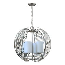 4-Light Contemporary Chandelier in Brushed Nickel
