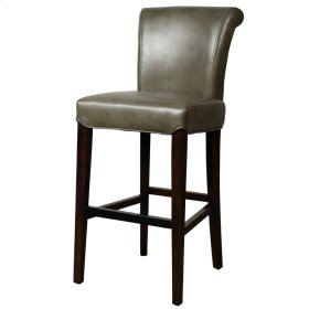 Bentley Bonded Leather Bar Stool, Quarry
