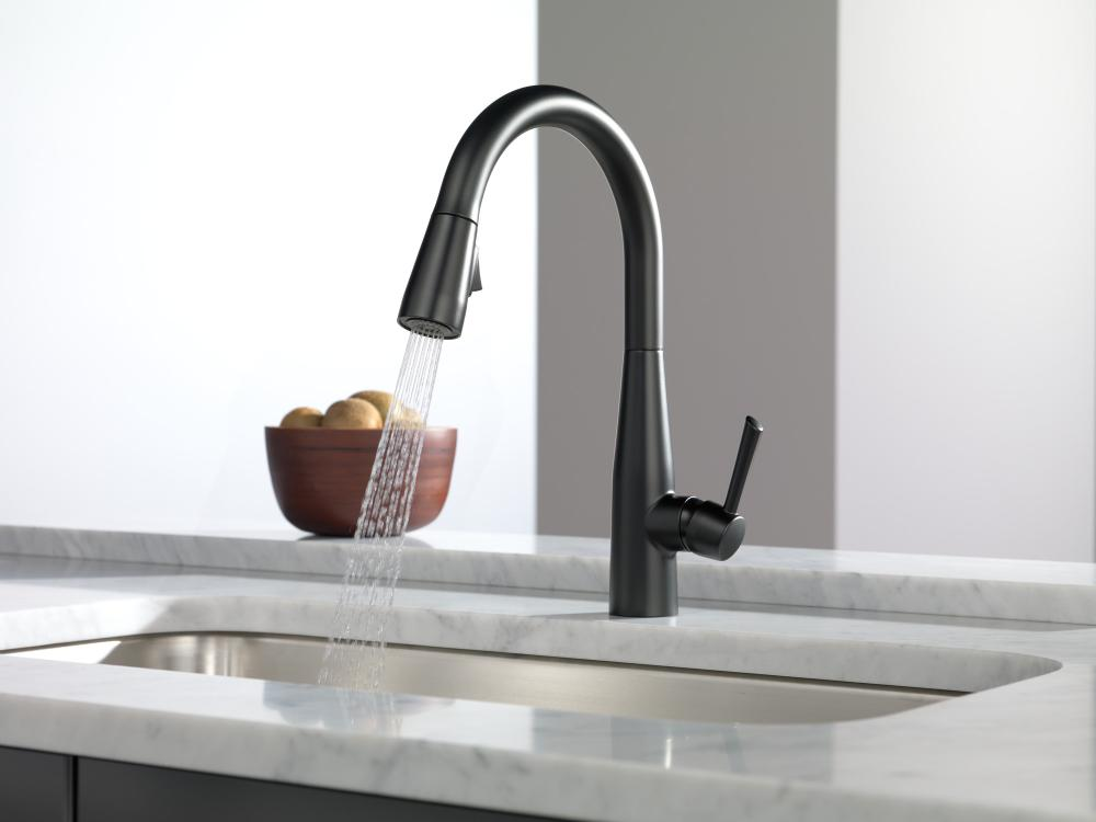 Hidden · Additional Matte Black Single Handle Pull Down Kitchen Faucet