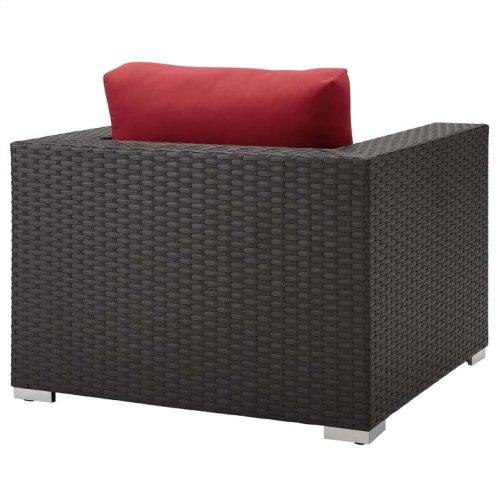 Sojourn Outdoor Patio Sunbrella® Armchair in Canvas Red
