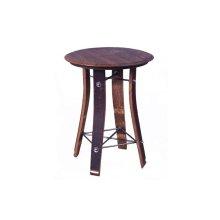 "24"" Barrel Top Side Table"