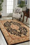 Nourison 2000 2028 Blk Rectangle Rug 5'6'' X 8'6''