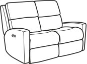 Catalina Fabric Power Reclining Loveseat with Power Headrests