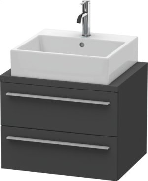 X-large Vanity Unit For Console Compact, Graphite Matt (decor)