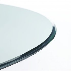 Clear Glass 48RD Dining Top