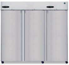 Freezer, Three Section Upright, Full Stainless Door
