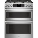 "GE CafeGE CAFEGE Cafe(TM)  30"" Slide-In Front Control Dual-Fuel Double Oven with Convection Range"