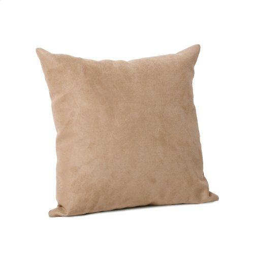 "16"" x 16"" Pillow Microsuede Sandstone"