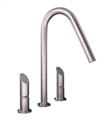 3 hole kitchen mixer with or without pull out.