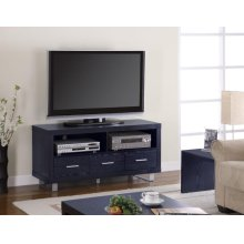 Contemporary Black Oak TV Console