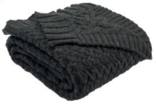 AFFINITY KNIT THROW - Dark Grey