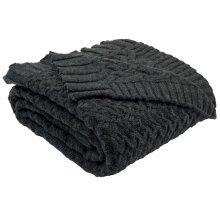 Affinity Knit Throw - Dark Grey