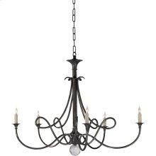 Visual Comfort SC5005BZ Eric Cohler Double Twist 5 Light 36 inch Bronze Chandelier Ceiling Light
