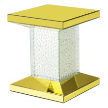 Chairside Table W/gold Mirror