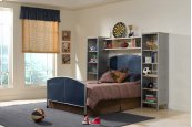 Brayden 4pc Twin Wall Storage Bedroom Suite
