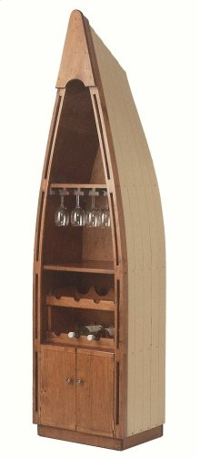 "#102W Canoe Wine Center 23.5""wx16.5""dx85""h"