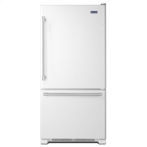 33-Inch Wide Bottom Mount Refrigerator - 22 Cu. Ft. - WHITE
