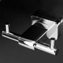 Wall mount double robe hook made of chrome plated brass