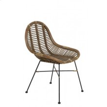 Chair 69x56x86 cm BOGOR rattan light brown