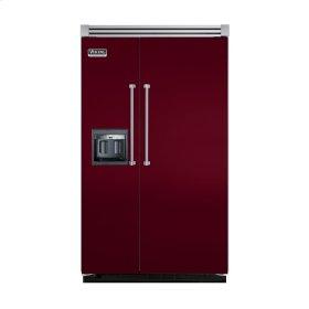 "Burgundy 48"" Side-by-Side Refrigerator/Freezer with Dispenser - VISB (Integrated Installation)"