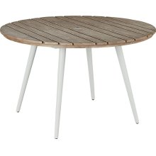 Essentials Dining Round Dining Table - Aluminum Top
