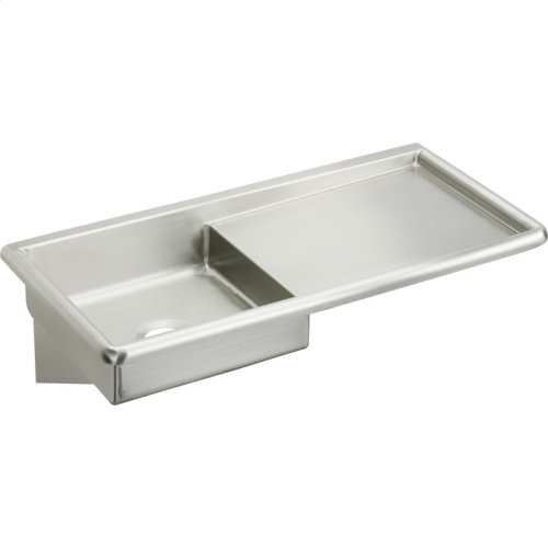 "Elkay Stainless Steel 42"" x 20"" x 6, Wall Hung Service Sink"