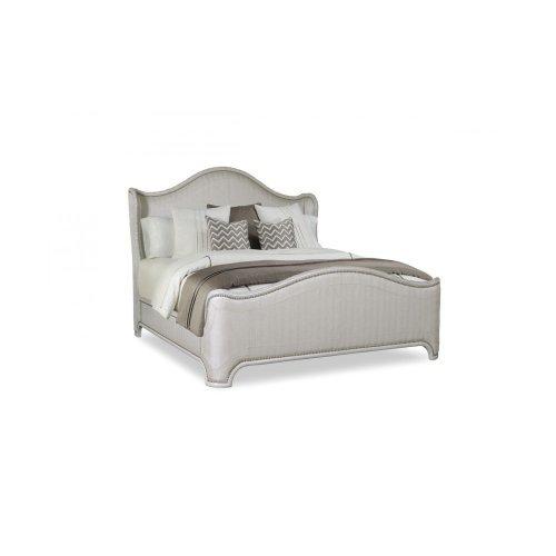 Chateaux California King Upholstery Shelter Bed - Grey