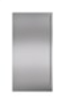 "Built-In 36"" Stainless Steel Dual Flush Inset Door Panel with Tubular Handle"