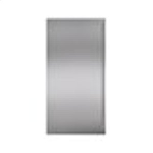 """Built-In 36"""" Stainless Steel Dual Flush Inset Door Panel with Tubular Handle"""