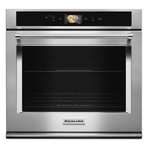 "KitchenAidSmart Oven+ 30"" Single Oven with Powered Attachments - Stainless Steel"