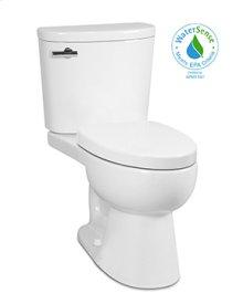White PALERMO II Two-Piece Toilet UHET 1.0 gpf, Elongated with Polished Chrome Metal Finish