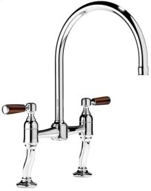 Antique Gold 2 Hole kitchen sink filler with adjustable centres