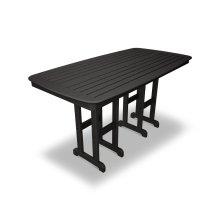 "Black Nautical 37"" x 72"" Counter Table"