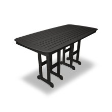 "Black Nautical 37"" x 72"" Counter Table"