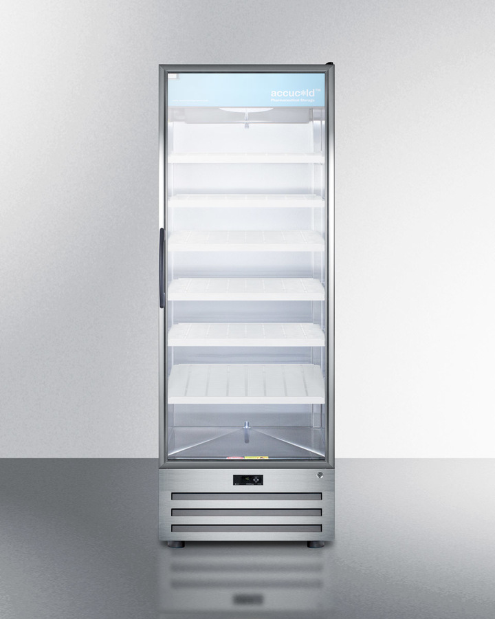 Summit Full Size Pharmaceutical All Refrigerator With A Glass Door, Lock,  Digital Thermostat, And A Stainless Steel Interior And Exterior Cabinet